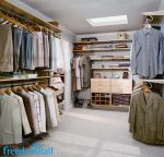 freedomRail maple walk in closet