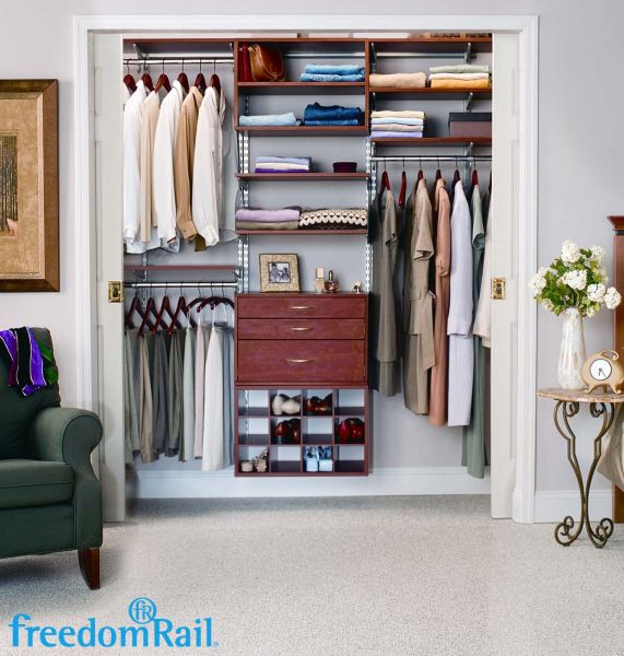 FreedomRail Cherry Reach In Closet