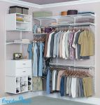 freedomRail White reach in closet